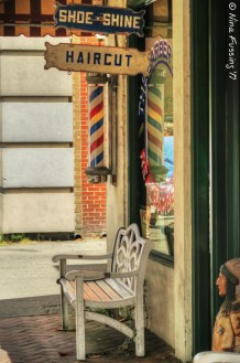 Old-time barber shop