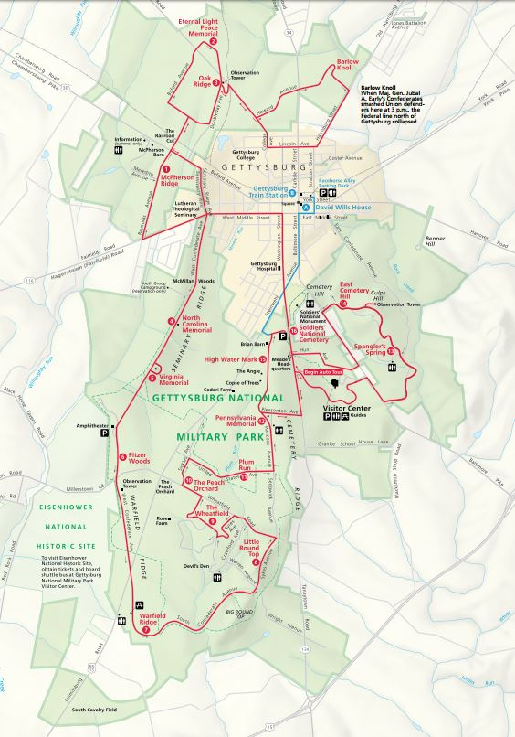 Image Result For Gettysburg Auto Tour Map