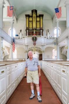 Dad inside Old North Church