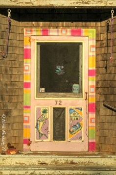 Downtown Lubec doors