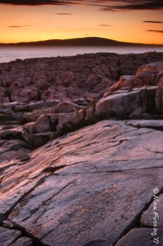 After-sunset glow at Schoodic Point