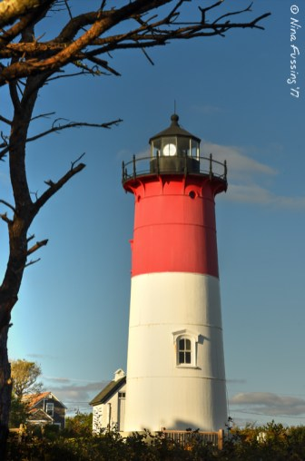 Nauset Light in frame