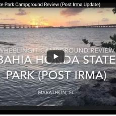 Post Irma Campground Update – Bahia Honda State Park, Bahia Honda, FL