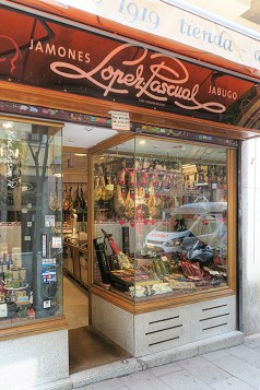 Lopez Pascual, the oldest Jamón shop in Madrid