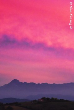 Mountain And Pink