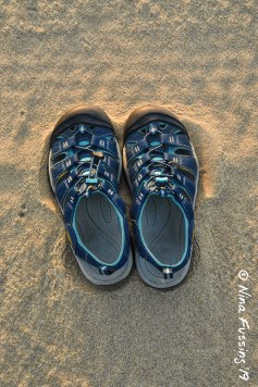 Fine sand & the only shoes I ever wear