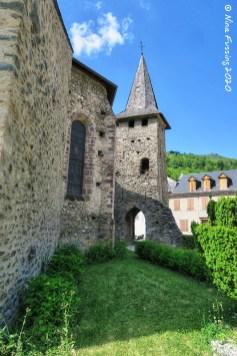 The stone church at Sentein