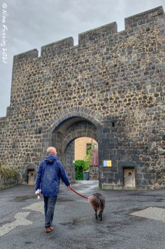 The old city gate of Pontgibaud