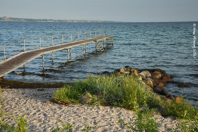 Bathing bridge in Denmark