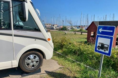 Motorhome parking at Kalvehave Harbor