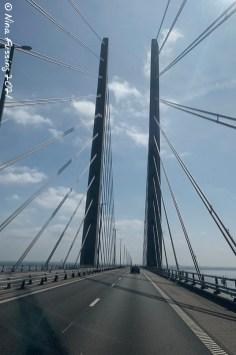 Driving over Øresund Bridge (Denmark to Sweden)