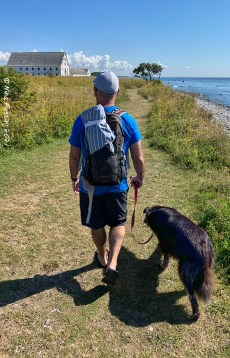 Walking the trails at Smygehuk