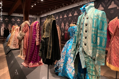 The detail & fabrics in this exhibit were incredible