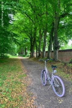 Biking the grounds at Jaegerspris Castle