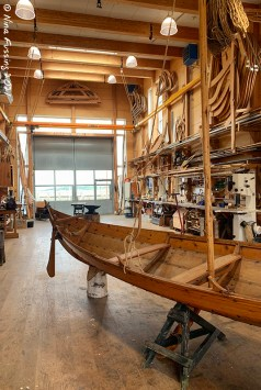 One of the ship building exhibits