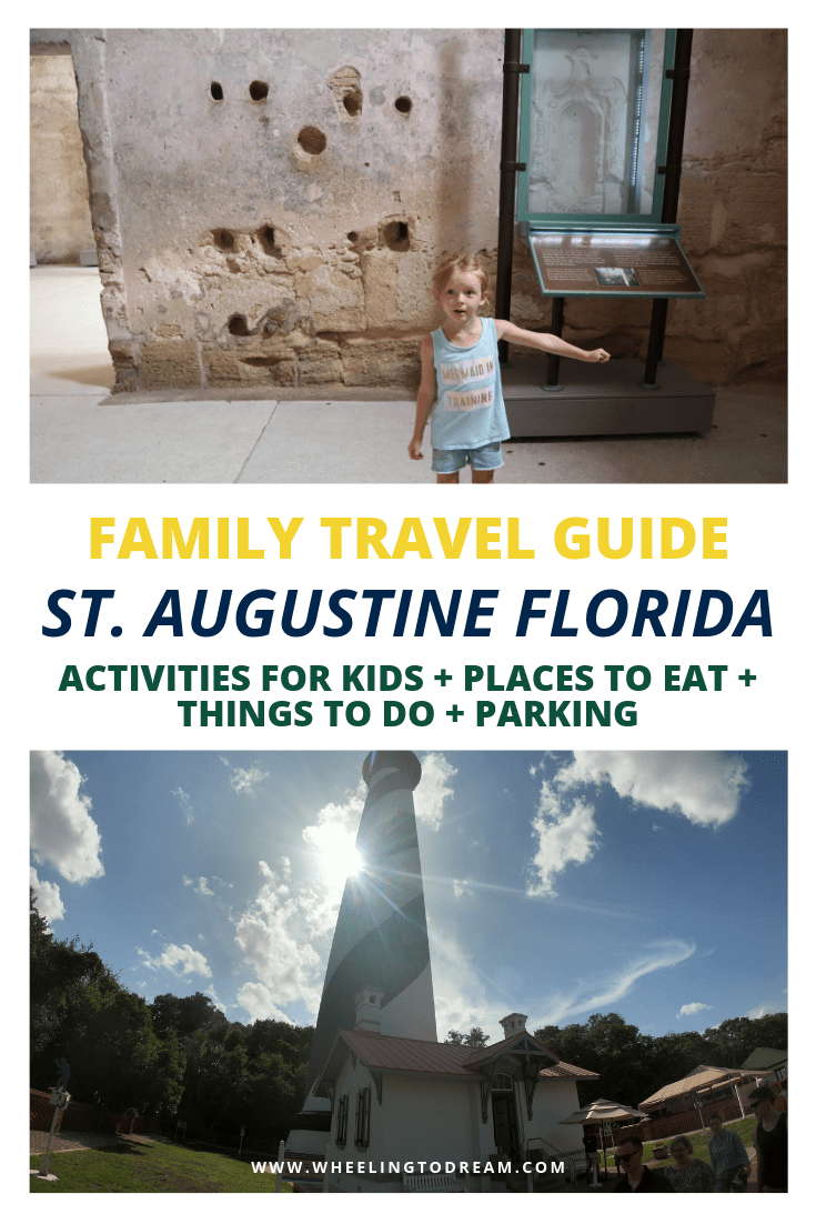 Are you on the hunt for things to do in St Augustine Florida? I\'m so happy I found this guide. We travel with kids all the time so this was one of the best road trips with kids we\'ve had yet. St. Augustine is should be on your list of Florida family vacation ideas that aren\'t Disney! This didn\'t have as many places to eat in St Augustine Florida but they did mention a great coffee place. We are always looking for beautiful lighthouses in Florida & we couldn\'t pass up this one.