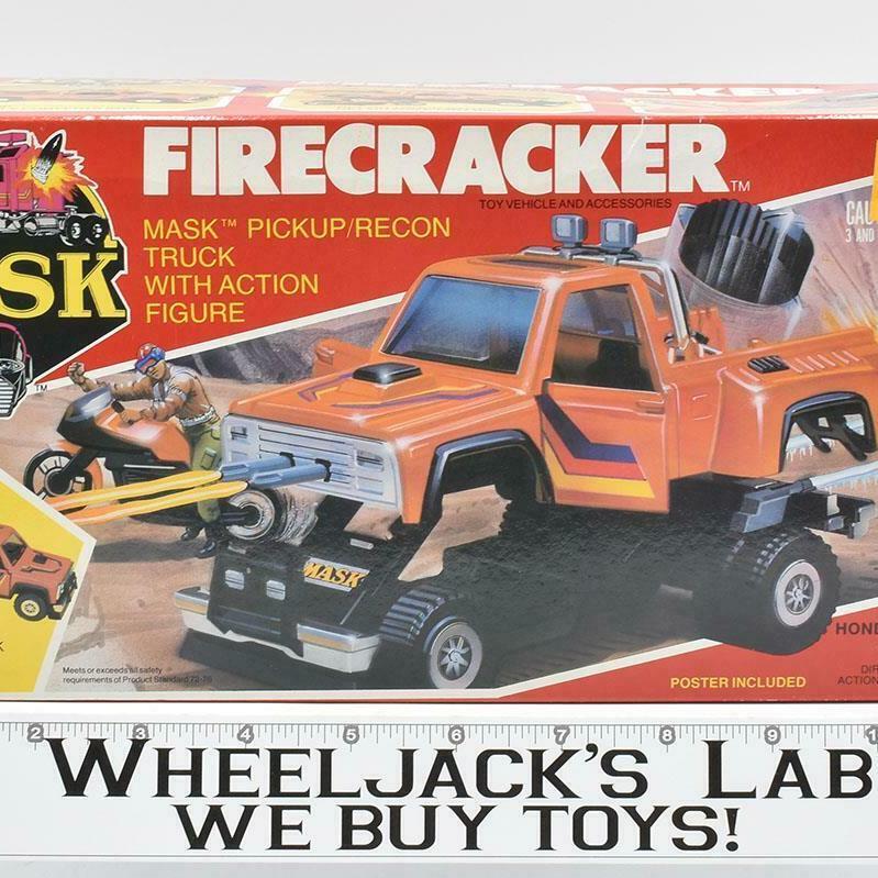 Kenner 1985 M.A.S.K. Fircracker Hondo with Maclean