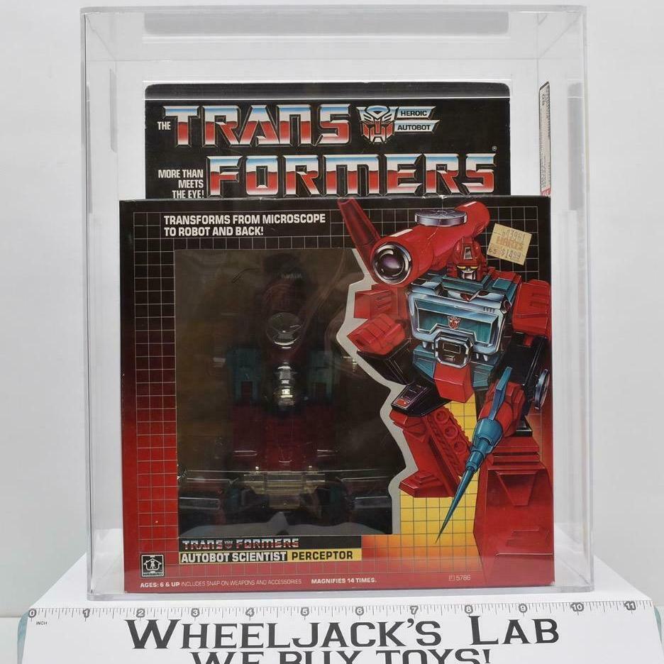 Hasbro 1985 Transformers Perceptor AFA Graded