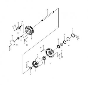 SDLG WHEEL LOADER LG956 FINAL DRIVE ASSEMBLY SPARE PARTS