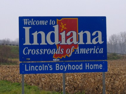 USA Welcome signs - Indiana