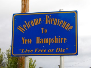 USA Welcome signs - New Hampshire