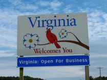 USA Welcome signs - Virginia