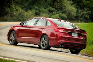 The 2017 Ford Fusion Sport can hit 60 mph in an estimated 5.3 seconds, according to Car and Driver. (Ford)