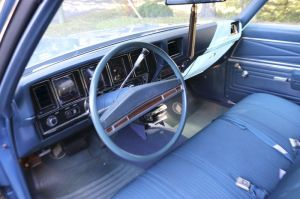 While sporty looking on the outside, the 1972 Skylark has a bench seat and automatic transmission with the shifter on the steering column. (Bud Wilkinson Republican-American)