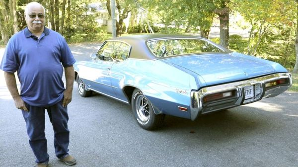 Tony Miele of Watertown and the 1972 Buick Skylark that hes owned for 48 years. (Bud Wilkinson Republican-American)
