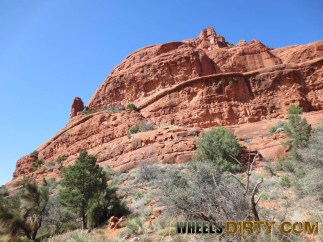 This picture was taken at the base of Bell Rock, the southern side.