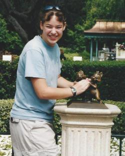 Amanda Choking Squirrel-Dland-July 2002 (2)
