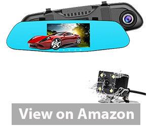 Best Rear View Camera - SENDOW Mirror Dash Camera Review
