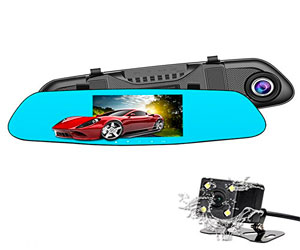 SENDOW Mirror Dash Camera 4.5 inch IPS Touch Screen FHD 6G Lens Mirror Rearview Camera Dual Back Car Dashboard Cam Review