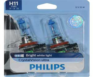 Philips H11 CrystalVision Ultra Upgrade Bright White Headlight Bulb Review