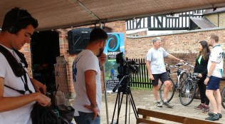BBC Escape to the Country filming at Wheely Wonderful Cycling