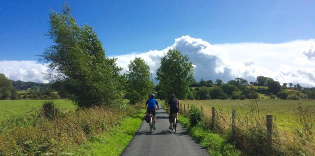Cycling in shropshire's clun Valley