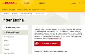 DHL Website