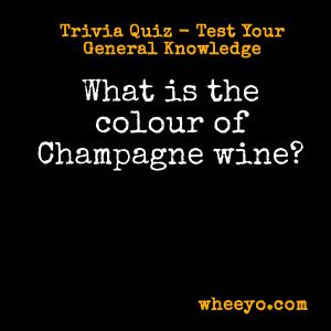 Wine Trivia Questions_Champagne Colour