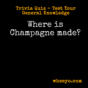 Wine Trivia Questions_Champagne Where Is It Made