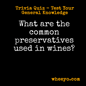 Wine Trivia Questions_Common Preservatives Used in Wine