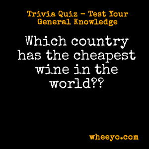 Wine Trivia Questions_Country with Cheapest Wine