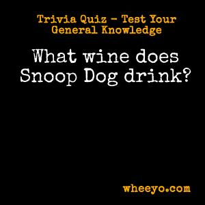Wine Trivia Questions_Snoop Dog
