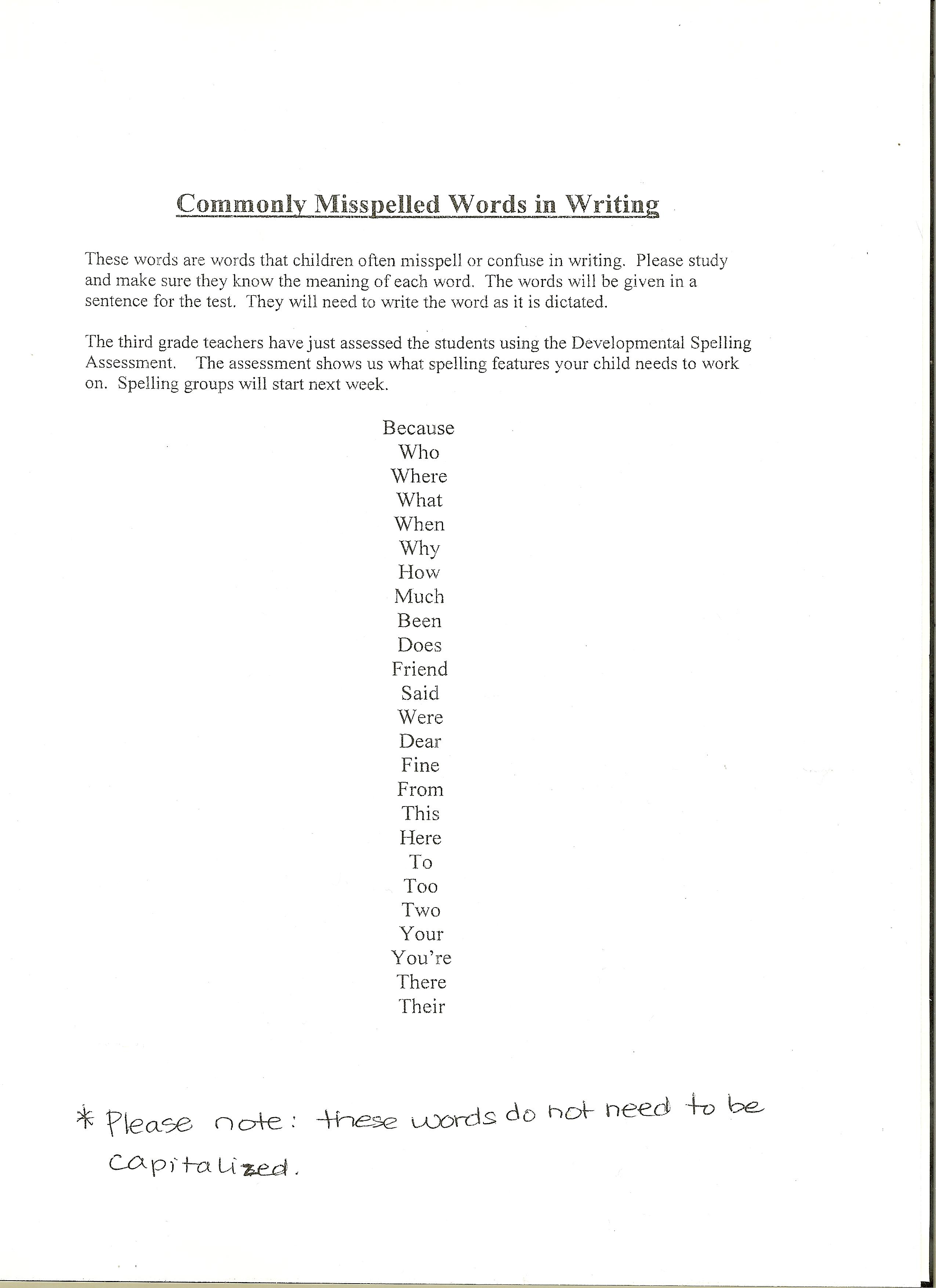 Spelling Worksheet Generator Images