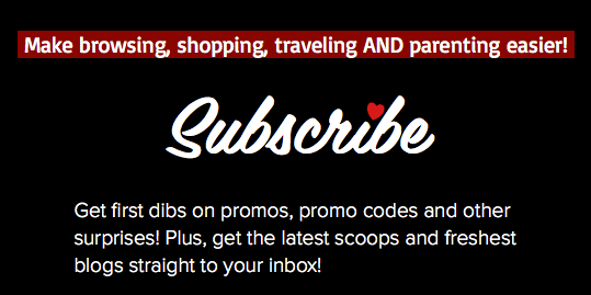 Subscribe to get promos