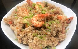 LAZY COOKING: Rice Cooker Shrimp Fried Rice