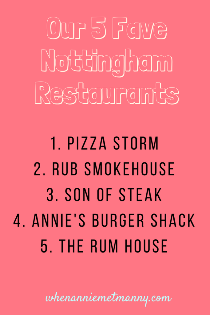 5 Favourite Nottingham Restaurants