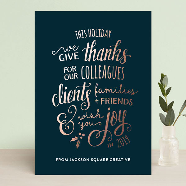 Employee appreciation cards for Thanksgiving 2018