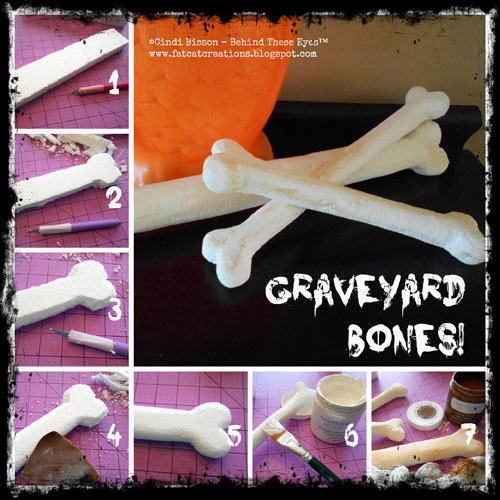 Halloween Graveyard Bones Collage