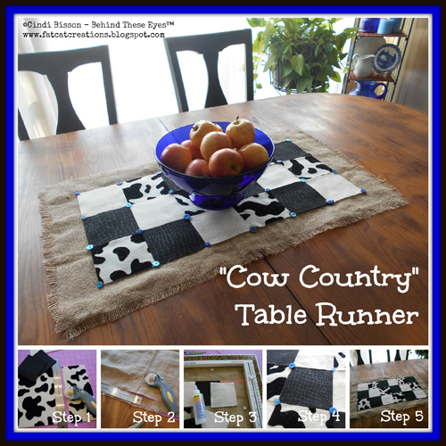 Cow Country Table Runner