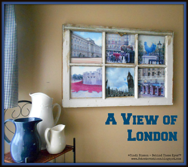 A View of London Repurposed Window